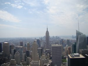 The Empire State Building and Manhattan